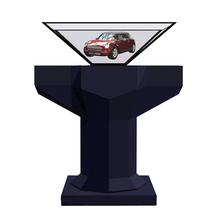 shopping mall advertising pyramid hologram 3d ad stand