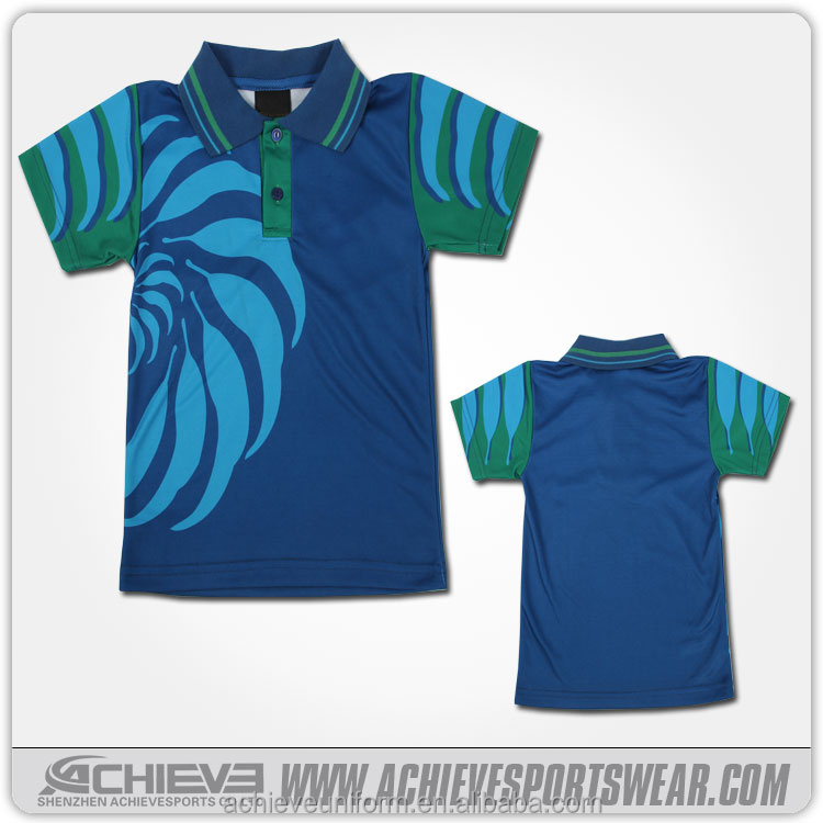 Sublimation sport mens polo collar striped t shirt design for Design polo shirts online
