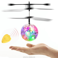 Sensor flying Ball Helicopter colorful Flash Disco ball Remote Control Toy As Gift Christmas toy