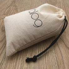 Calico Pouch Drawstring Bags With Natural Cotton Cord