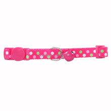 cat collar-polka dots,pink Pet cat collar