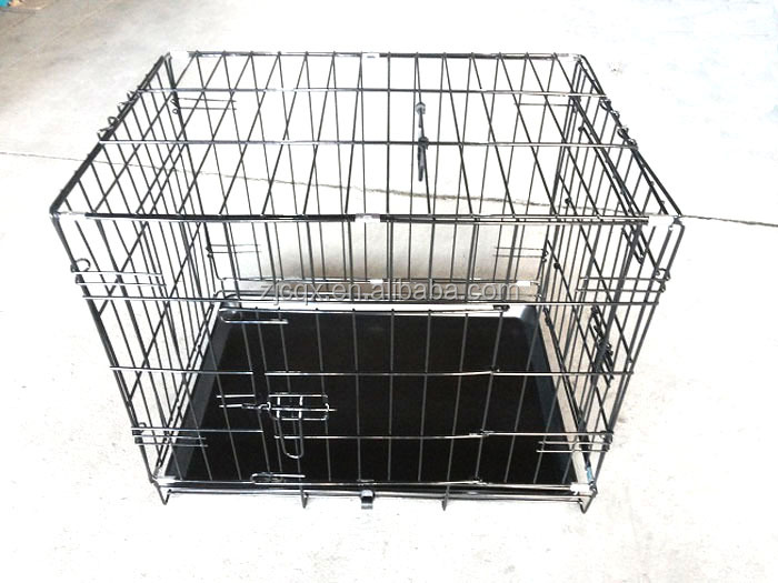 "18"" 24"" 30"" 36"" 42"" 48"" Dog Cage Crate Kennel Pet Cat House Carrier Folding Portable With Removable Tray"