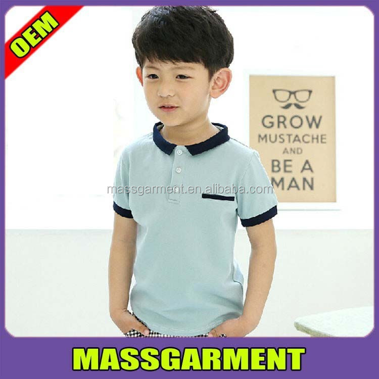 The boy's summer casual t-shirt POLO tshirt children clothing
