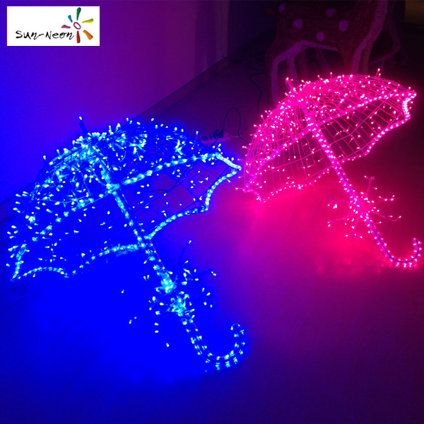 Hot sale christmas decoration umbrella shped led light