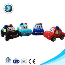 2015 Customized colorful plush stuffed toy police car fashion cute soft stuffed plush electrical animal toy car