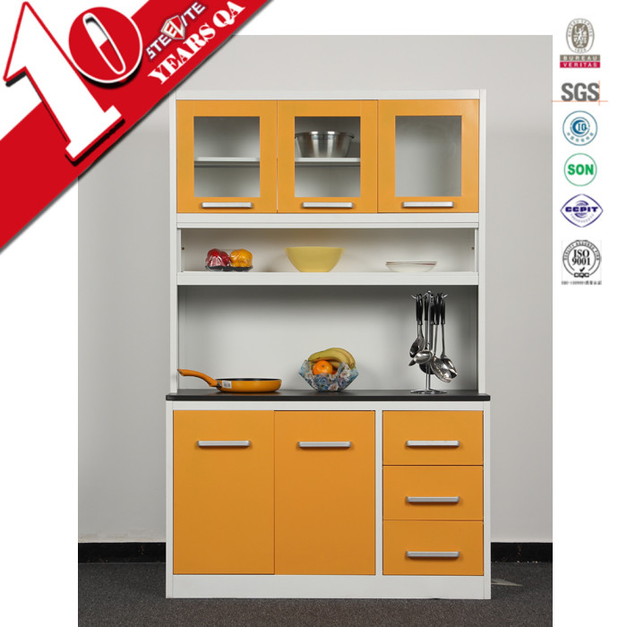 High gloss factory price metal kitchen unit kitchen for Kitchen drawer units for sale