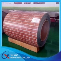 brick color coated steel coil/stone prepainted galvanized steel coil/PPGI steel coil