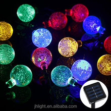 16.4Ft 30 LED Crystal Ball Solar Powered Outdoor String Lights for Outside Garden Patio Party Christmas color changing