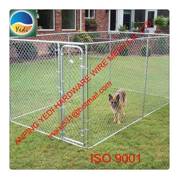 hot sale high quality chain link custom made square tubing dog cage
