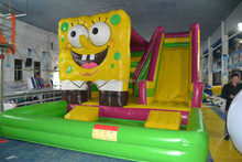 spongebob inflatable water slide