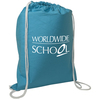 Custom design cheap price cotton drawstring bag for kids for wholesale
