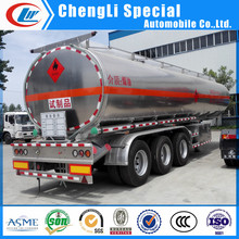 Light weight Aluminum mobile fuel tank trailer, aluminum alloy oil tank trailer for sale