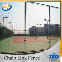 garden hot dipped galvanized chain link fence made in China