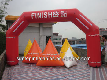 most popular inflatable arch for advertising and sports event with customized logo and color