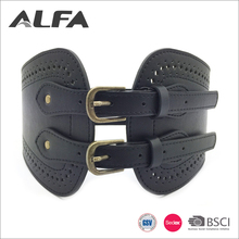 Alfa China Online Selling Fashion Black Lady Wide Elastic Waist Corset Belts