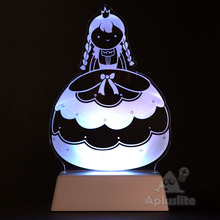 Decoration 3D Illusion Story LED Acrylic Table Light