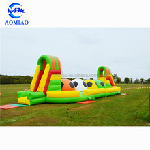 Large outdoor inflatable football stepping stones, inflatable assault obstacle course game
