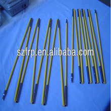 Long life for usage fiberglass tent support rod with metal ferrules from alibaba China