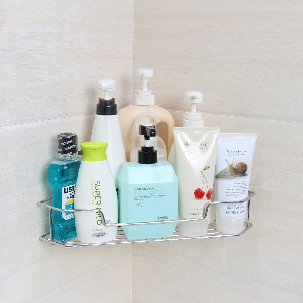 Stainless Steel Toilet Corner Shelf Over Bath Toilet Shampoo Rack ...