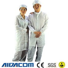 5mm grid,stripe polyester esd clean room smock