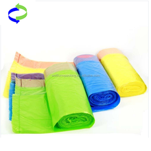 Accept Custom Order and Printed Plastic Purple garbage Bags with tie