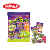 5073 Monster Bug'N Grubs Halloween Halal Gummy Candy With Natural Color