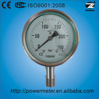 4Inch(100mm) oil filled stainless steel factory price bar pressure gauges with CE certification