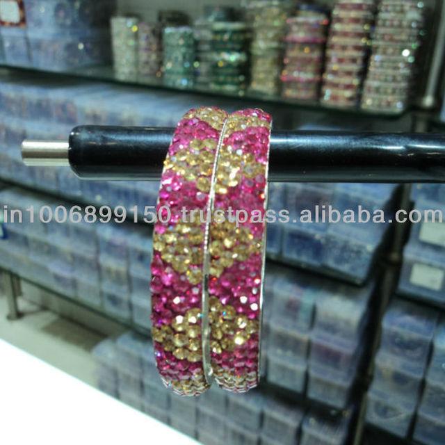 5 Row Crystal Bangles