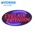 Factory Price Eyebrow Threading Advertising LED Open Sign, Acrylic LED Sign