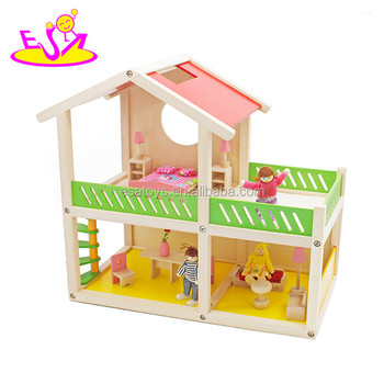 New hottest creative playhouse wooden diy doll house set for children W06A259