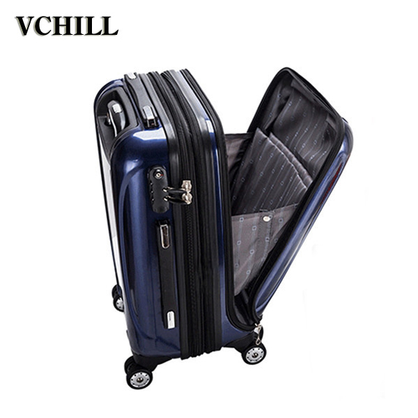 2017 hot famous front opening luggage for travel business trip