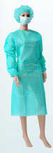 OEM cheap sterile disposable nonwoven fabric NWF cap and gown for surgical