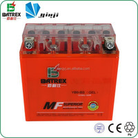 12 Volt Gel 9ah Motorcycle Battery For 250cc Racing Motorcycle