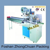 Down-paper pillow packaging machines for fresh fruits / vegetables