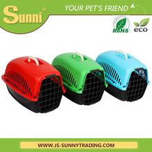 Dog travel folding plastic pet carrier