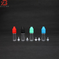 liquid thc e cigarette for e-juice with chlidproof cap , wholesale clear empty PET plastic bottles 10ml