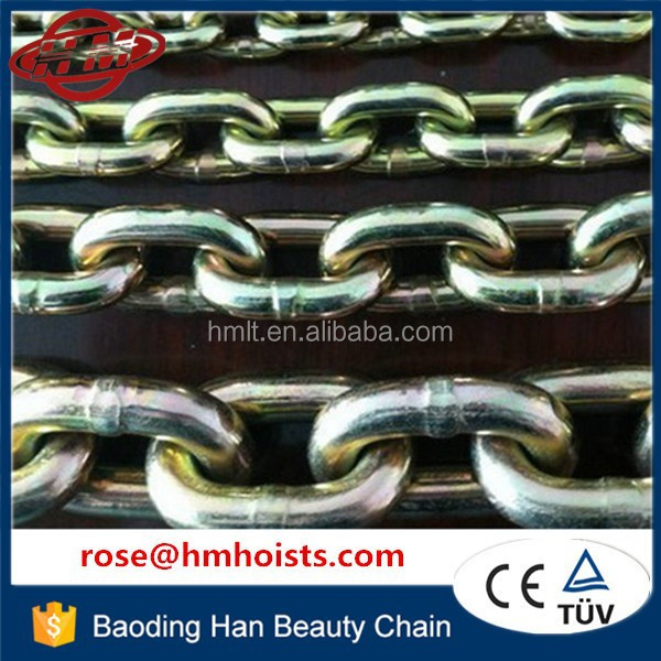 13mm x 39mm Galvanized alloy steel grade 80 link chain