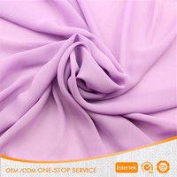 100% polyester plain silk chiffon georgette fabric for scarves dress