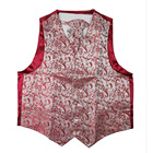 wine color men vest wholesale from china