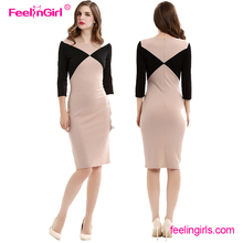 Wholesale hand wash zipper up mini bodycon dress fashion