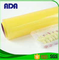 transparent plastic packaging pvc food wrap film