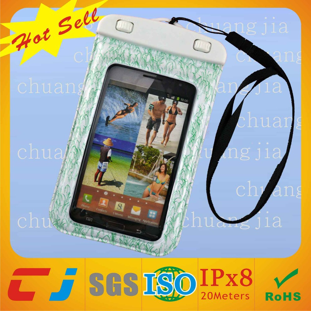 Inflatable waterproof leather pouch for samsung galaxy