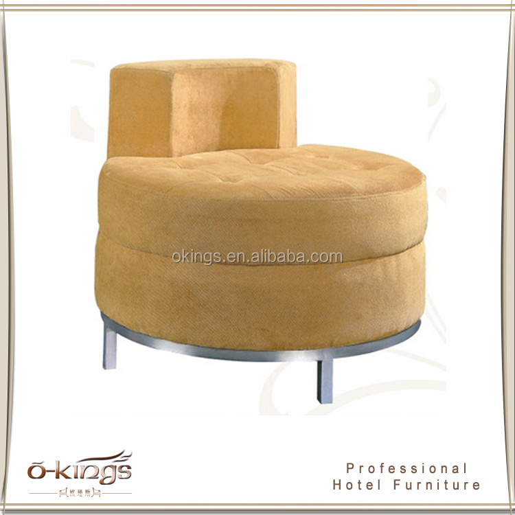 modern promotion big size fabric round hotel lobby sofa