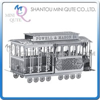 Mini Qute 3D Metal Puzzle Sightseeing tour Bus car vehicle Adult kids model educational toys gift NO.I11102