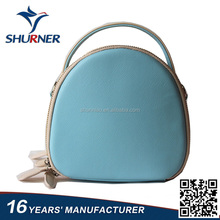 cheap price lovely mini blue Color PU leather camera bag with strap