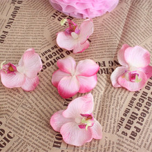 The new butterfly orchid flower heads wedding ceremony cake decoration feel simulation upscale feel is the first wedding decorat