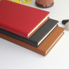 Manufacturer organic customized PU leather cover notebook with print