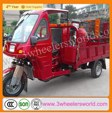 Motorized Driving Type 175cc adult cargo tricycle with cabin and roof