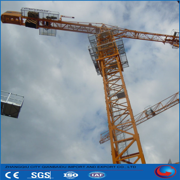 high-quality 4t max-load 120m max- height flattop tower crane for sale