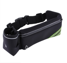 Wholesale logo printed reflective waterproof led cell mobile phone gym sports running belt elastic waist bag with water bottle